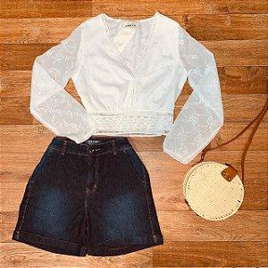 Short Jeans Dardak Alfaiataria 1573 Azul Escuro