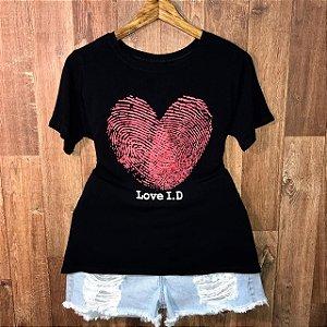 Camiseta Top Heart Love ID