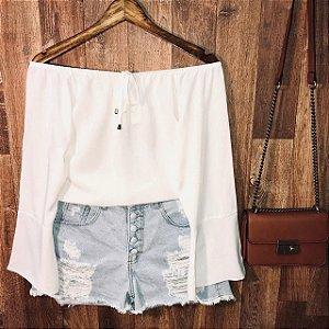 Blusa Ciganinha Manga Longa White