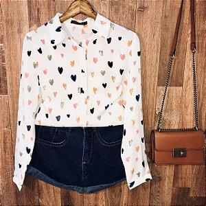 Camisa Corações Coloridos Sofia White