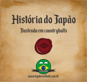 Japãoball Countryball + Ebook da História do Japão