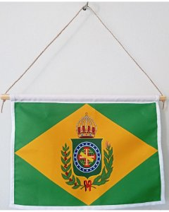Flâmula do Brasil Império 17x27cm