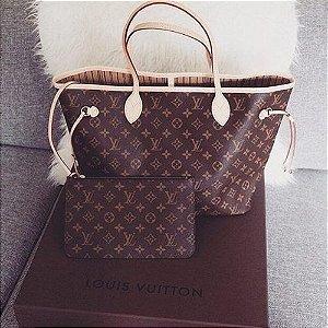 Bolsa Louis Vuitton Neverfull Monogram e Carteira Zuppy