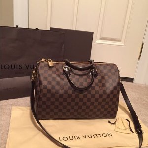 Bolsa Louis Vuitton Speedy Bandouliere Damier Ebene