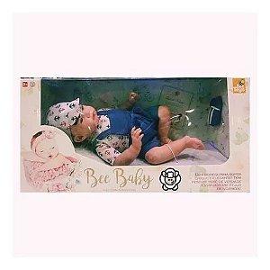 BONECA BEE BABY RECEM NASCIDO REBOR