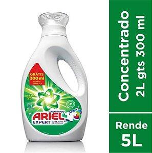 Sabão Líquido Concentrado Ariel Expert  2L Grátis 300ML