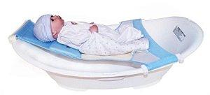Rede De Proteção Para Banheira Banho Segurança Azul BabyBath