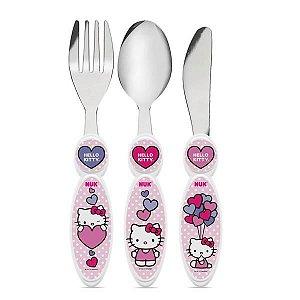 Talheres De Inox 3 Peças - Hello Kitty - Nuk