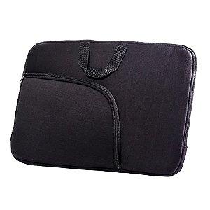 Capa para Notebook 15,6 polegadas com bolso externo cor preta