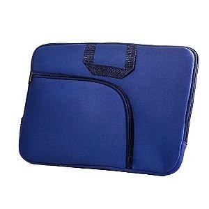 Capa para Notebook 15,6 polegadas com bolso externo cor Azul