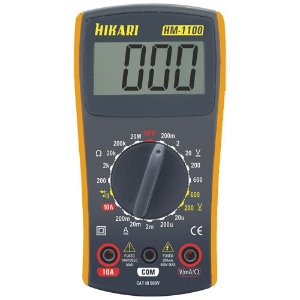 Multimetro Digital Hikari HM-1100 LCD Beep - CAT III 600v