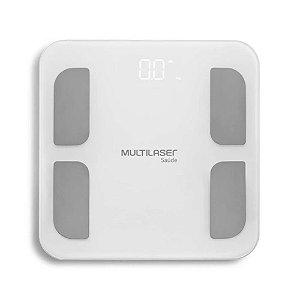 Balança Digital Banheiro Corporal Bioimpedância Multilaser