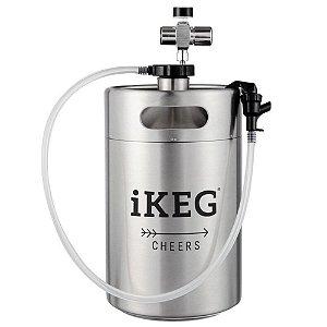 Kit Chopeira 5L torneira e regulador  iKeg + 6 Cápsulas
