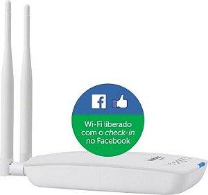 Roteador Wireless Hotspot 300 Intelbras Check-in Facebook