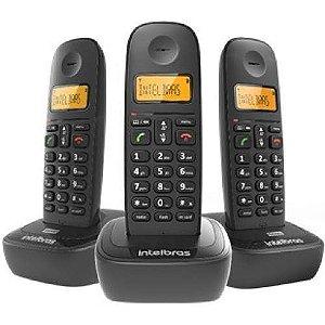 Telefone Sem Fio Ts 2513 Bina  Intelbras 2 Ramais Lançamento