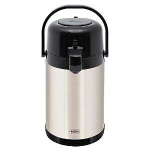 Garrafa Térmica Airpot Total Inox 1,9 Litros Quente e Fria Café Chá Chimarrão Mate