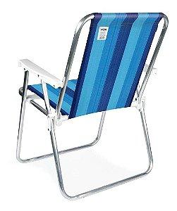 Cadeira Alta Alumínio Conforto Praia Piscina Camping Mor