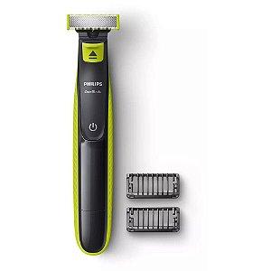 Barbeador Elétrico Philips One Blade QP2521/10 Sem Fio Seco e Molhado