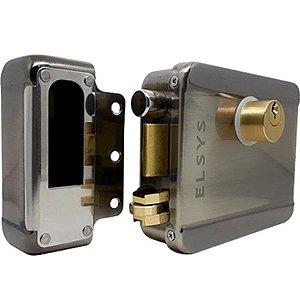 Fechadura Elétrica Elsys de Sobrepor Duolock Reversível NF
