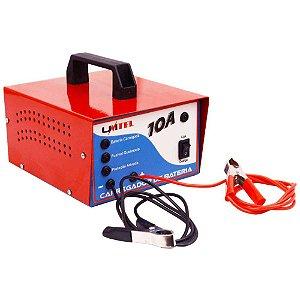 Carregador de Bateria Automotivo Carro Moto 12V 10 Amperes 32-120 Ah Linha Hobby 100 Unitel CBH16VDC10A – Bivolt