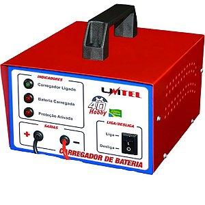 Carregador de Bateria Automotivo Carro Moto 12V 4 Amperes 28-60 Ah Linha Hobby 40 Unitel CBF16VDC4A – Bivolt