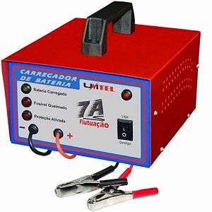 Carregador de Bateria Automotivo Carro Moto 12V 7 Amperes 32-100 Ah com flutuação Linha Hobby 40 Unitel CBF16VDC7A – Bivolt
