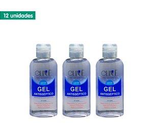 Kit Gel Antisséptico 70% Clivê 60ml (12 unidades)