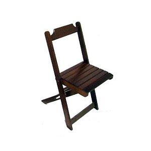 Cadeira Dobravel de Madeira Imbuia - Madesil