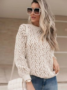 Blusa de tricot manga longa fio mousse