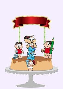 topo de bolo da Mônica