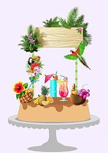 Topo de bolo tropical