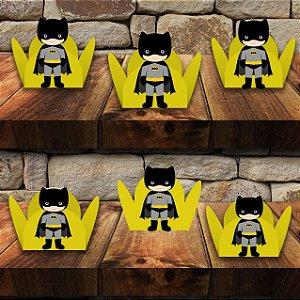 Forminha para docinho com aplique do  Batman com 100 unidades