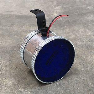 Canhão Prata de Led Azul - Corujinha Médio