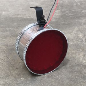 Canhão Prata de Led Vermelho - Corujinha Grande
