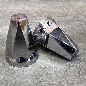 Capa de Porca Diamante Cromada