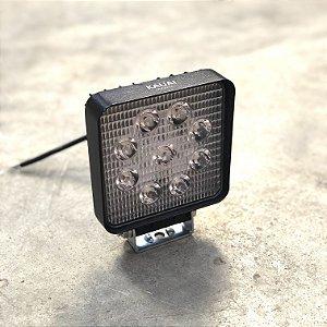 Farol de Milha em LED 27w Quadrado Bivolt