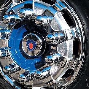 Calota Dianteira Cromada RaceTruck R22,5 - Unidade