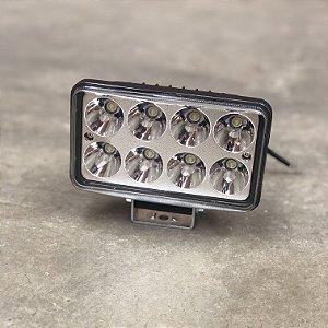 Farol de Milha em LED 24w Retangular Bivolt