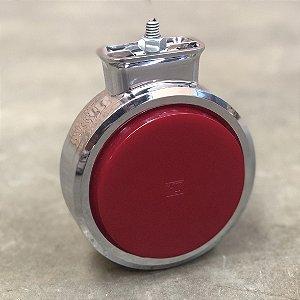Foguinho Bojuda LED Cromado Vermelho