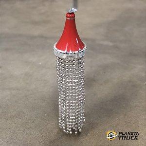 Abajur Pendente Vermelho em LED Vermelho 12v
