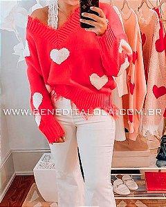 Blusa Tricot Destroyer Corações Inverno 2020- kw
