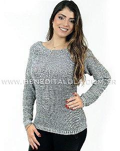 Blusa Tricot Feminina Mesclada Básica Inverno 2019 -SK