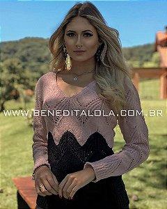 Blusa Tricot Feminina Mousse Cream Inverno 2019- BD