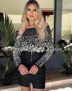 Body Tricot Modal Tigre/Oncinha Inverno 2019  -BD