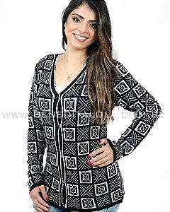 Casaco tricot Botões Formas Inverno 2019 - SK