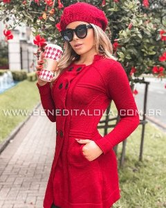 Sobretudo Tricot Elegance Inverno 2019 -RM