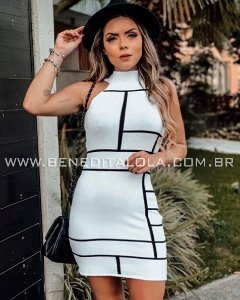 Vestido Tricot Modal Assimétrico Verão 2020 - MD