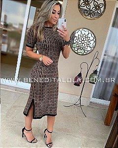 Vestido Tricot Modal Midi Lala Verão 2020 - MD