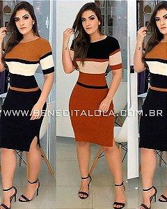 Vestido Tricot Modal Midi Lilly Inverno 2020 - MD