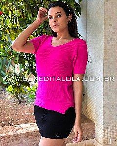 Camiseta Tricot com Bolsinho Luanna Verão 2020- SK